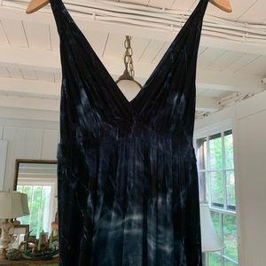 Deep blue tie dye Gypsy dress. Size S